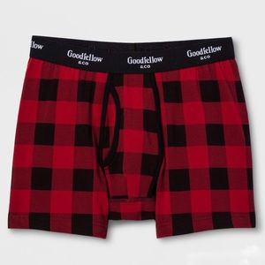 🎆 4/$40 Goodfellow Red Plaid Boxer Briefs